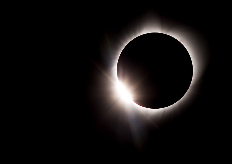 Eclipse photography diamond ring