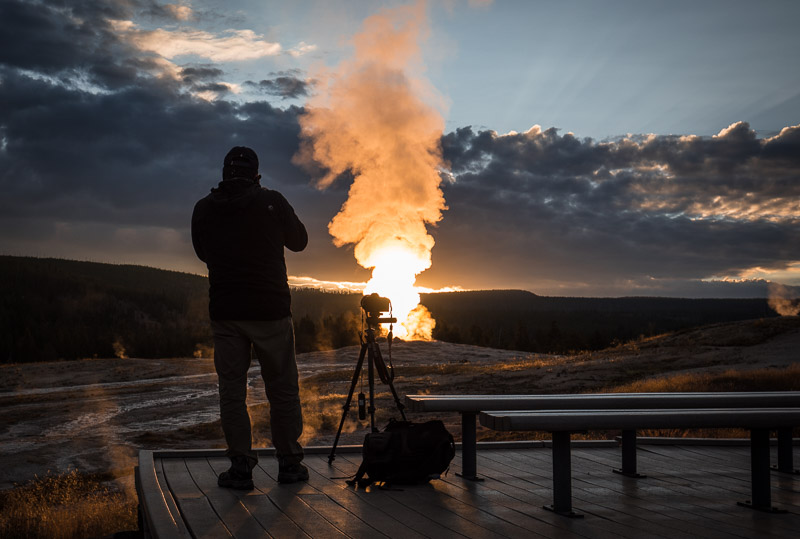Old Faithful yellowstone photography